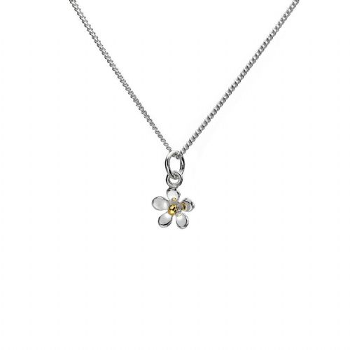 Dainty Daisy Pendant Sterling Silver 925 Hallmark Gold Plate All Chain Lengths